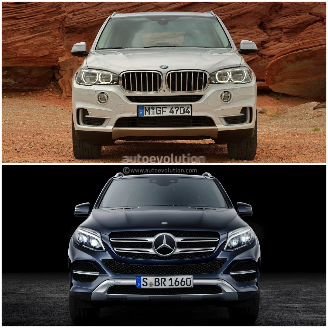 Compare Bmw Models: Photo Comparison: BMW F15 X5 Vs Mercedes-Benz GLE