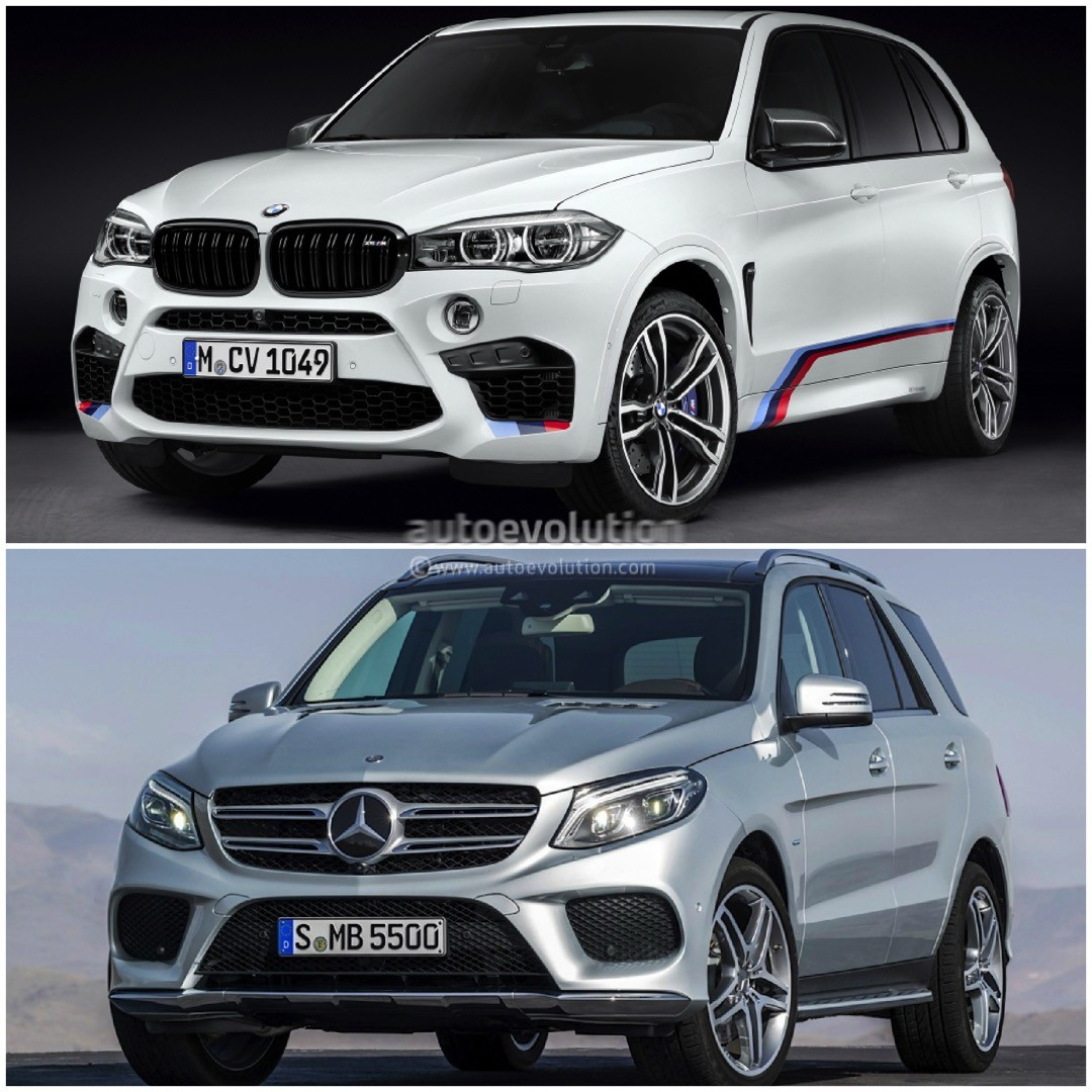 photo comparison bmw f15 x5 vs mercedes benz gle autoevolution. Black Bedroom Furniture Sets. Home Design Ideas