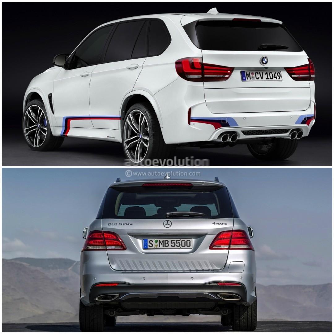 Photo Comparison: BMW F15 X5 Vs Mercedes-Benz GLE