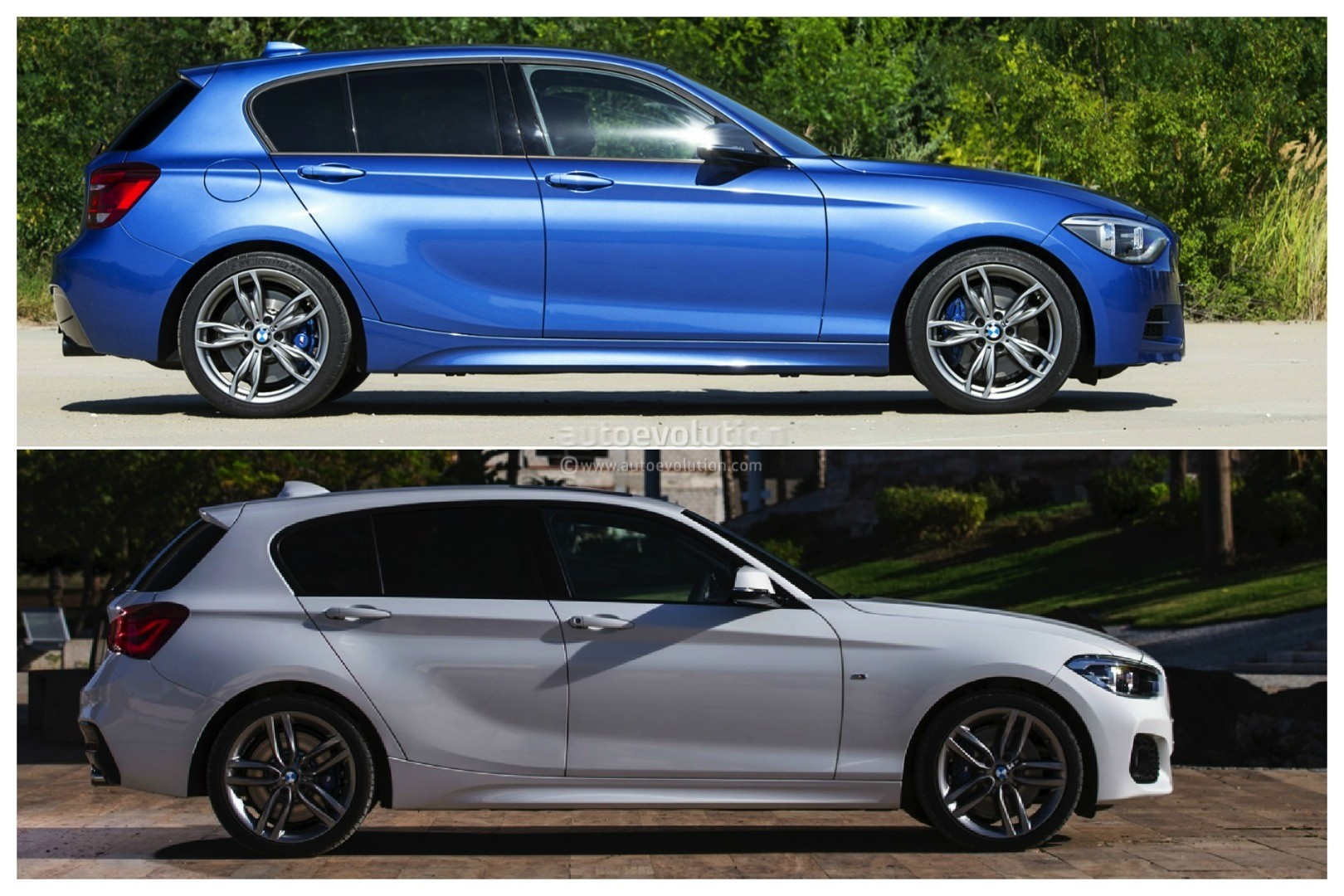 Photo Comparison Bmw F20 1 Series Facelift Versus Bmw F20
