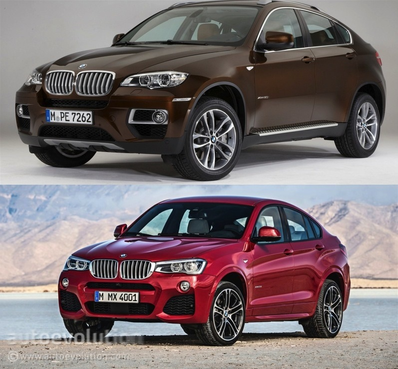 Bmw X6 S: Photo Comparison: BMW F26 X4 Vs BMW E71 X6