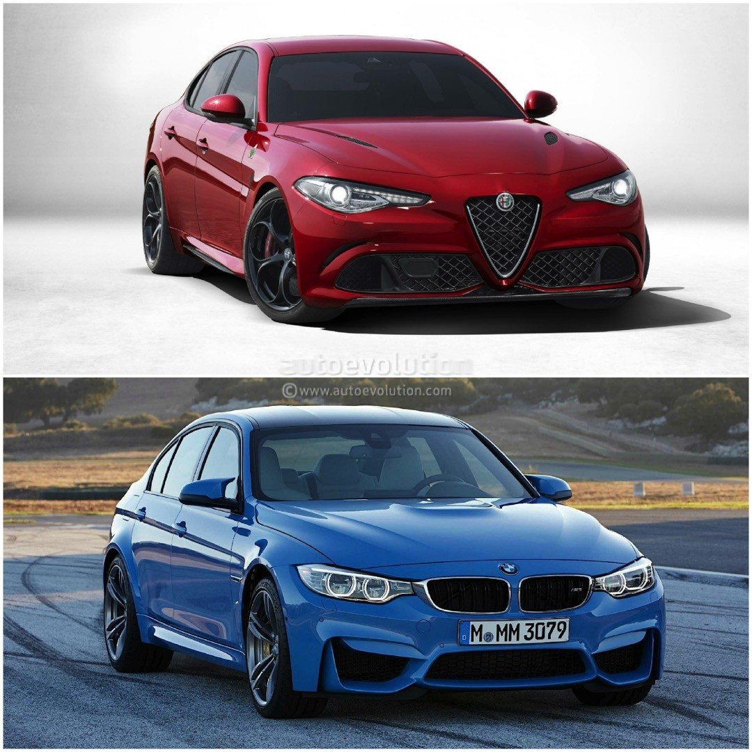 Compare Bmw Models: Photo Comparison: BMW F80 M3 Vs Alfa Romeo Giulia QV