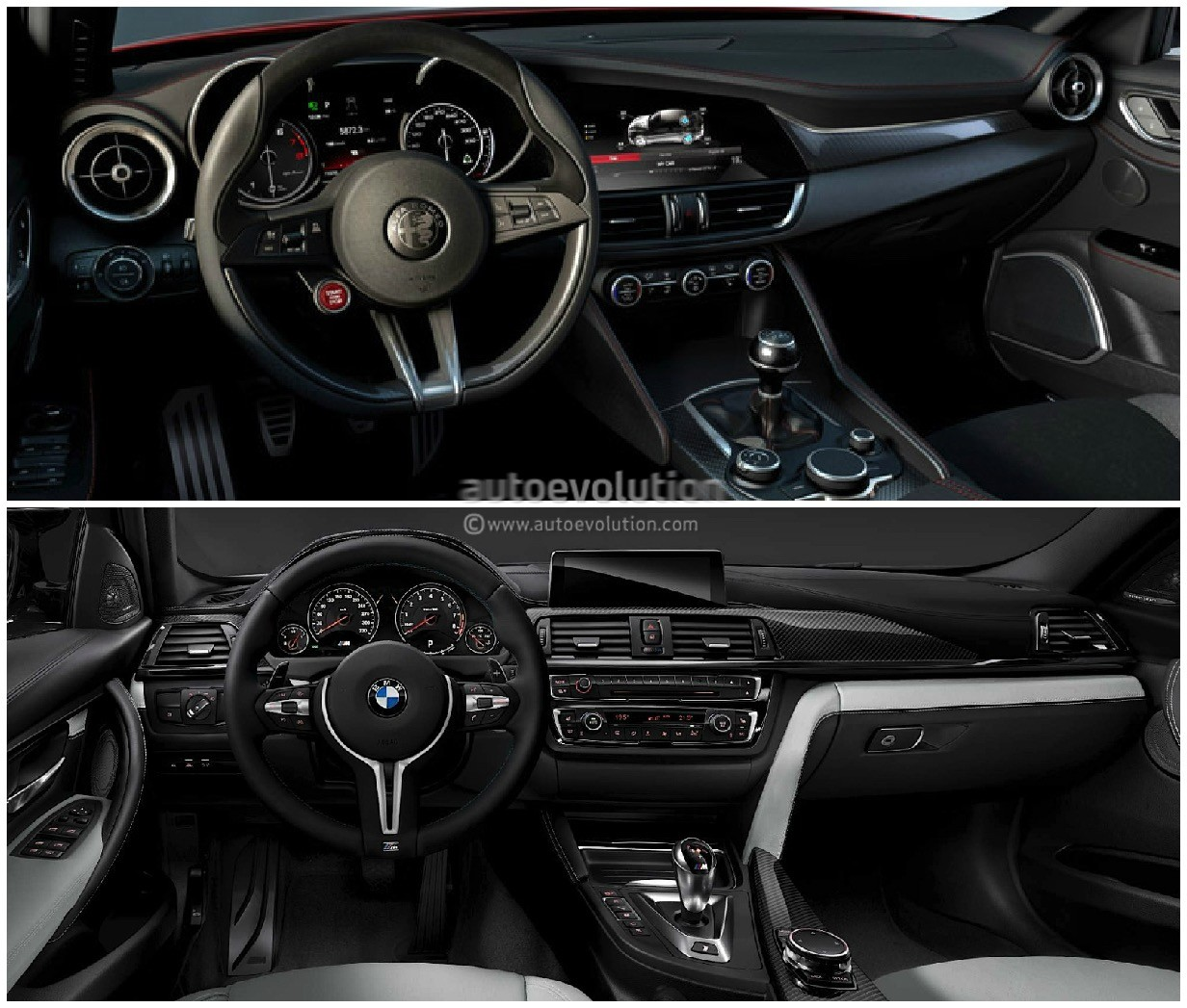 Photo Comparison Bmw F80 M3 Vs Alfa Romeo Giulia Qv