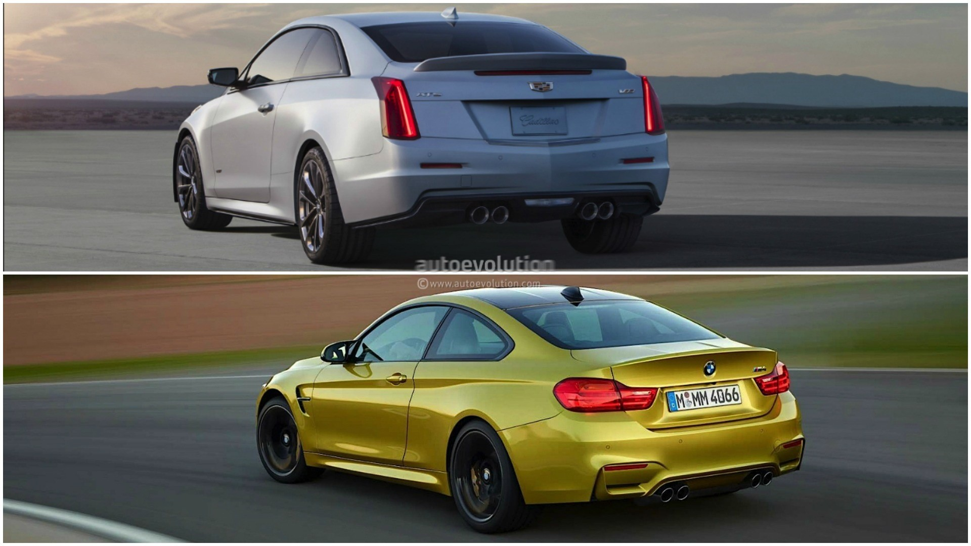 Photo Comparison Bmw M4 Vs Cadillac Ats V Coupe