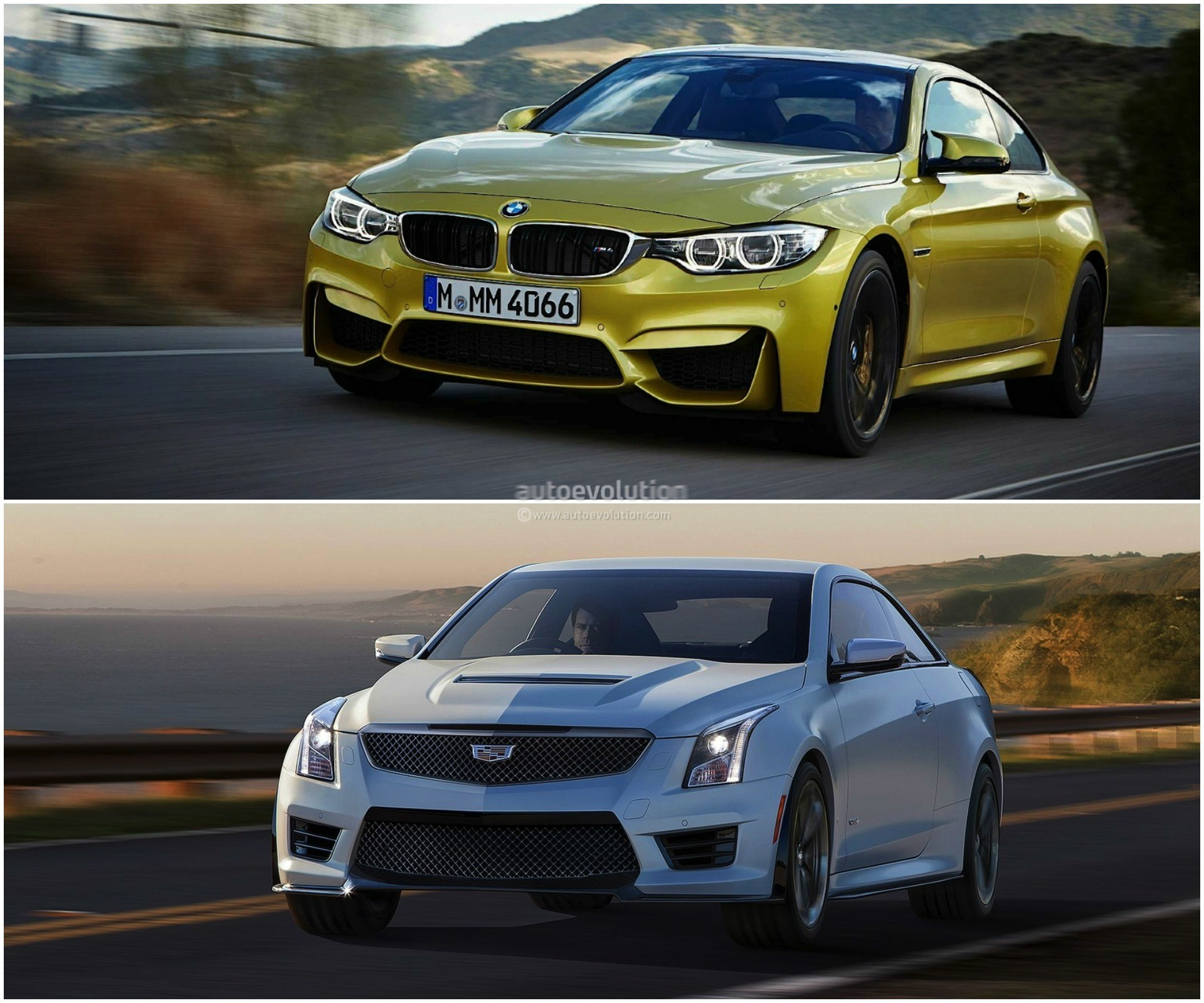 Photo Comparison: BMW M4 Vs Cadillac ATS-V Coupe