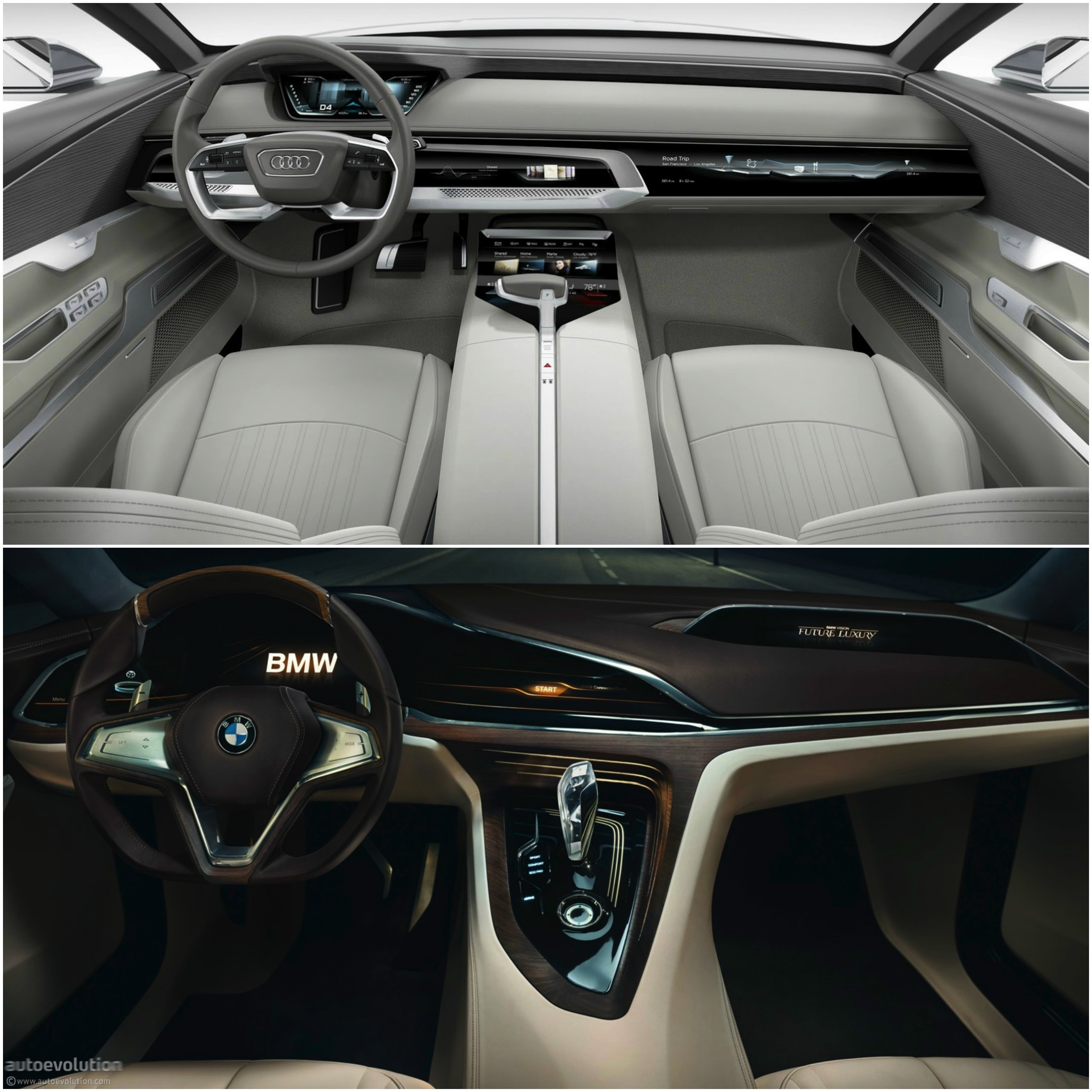 photo comparison bmw vision future luxury concept versus audi prologue concept autoevolution. Black Bedroom Furniture Sets. Home Design Ideas