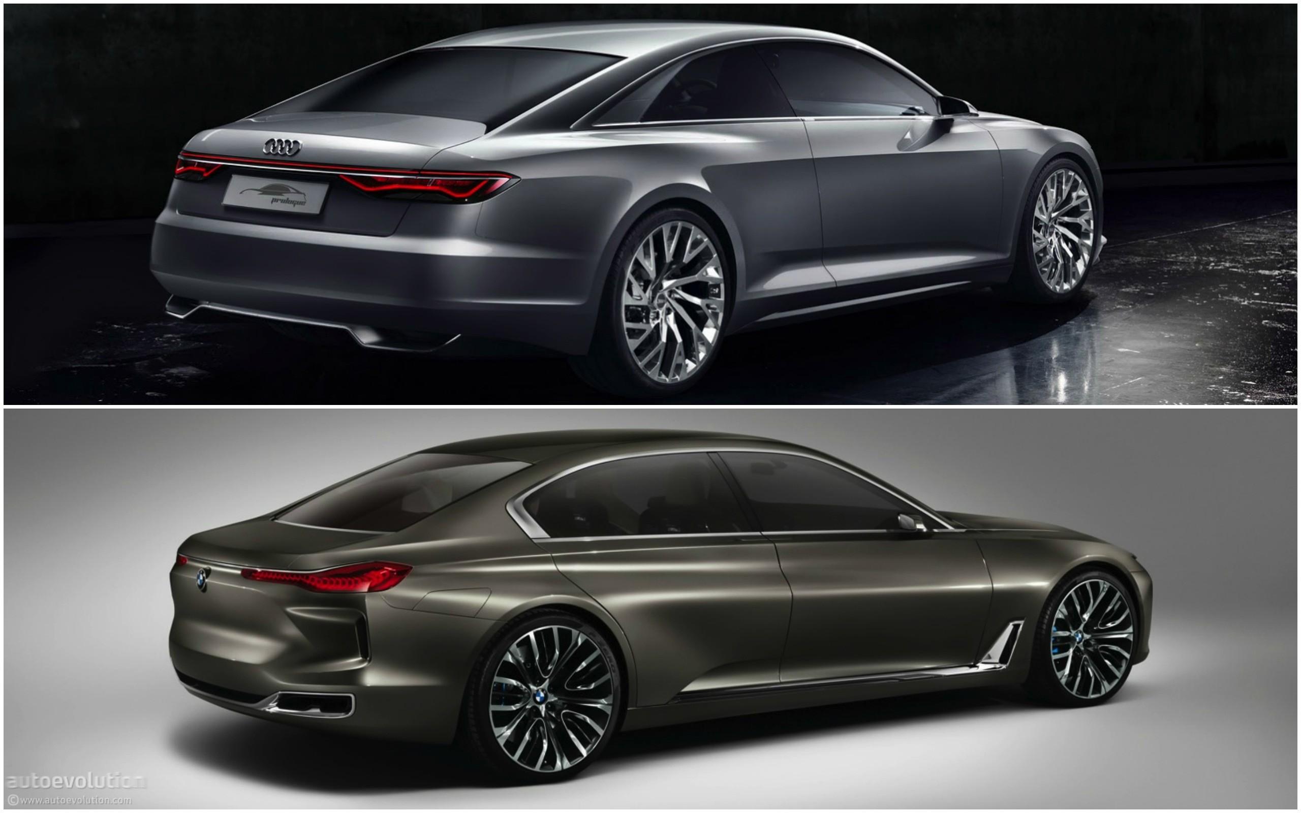 Photo Comparison: BMW Vision Future Luxury Concept versus Audi ...