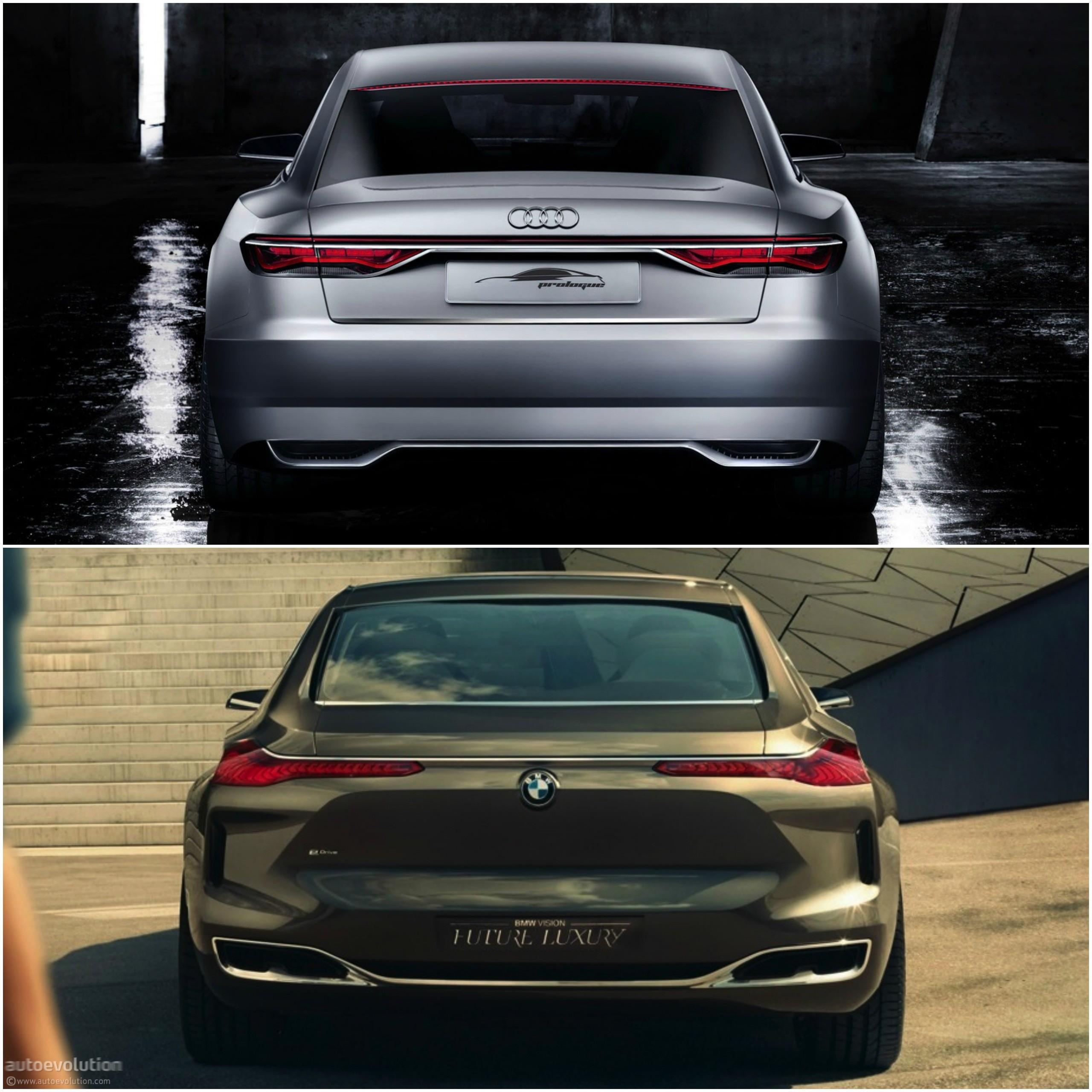 Future Interior Luxury Design: Photo Comparison: BMW Vision Future Luxury Concept Versus