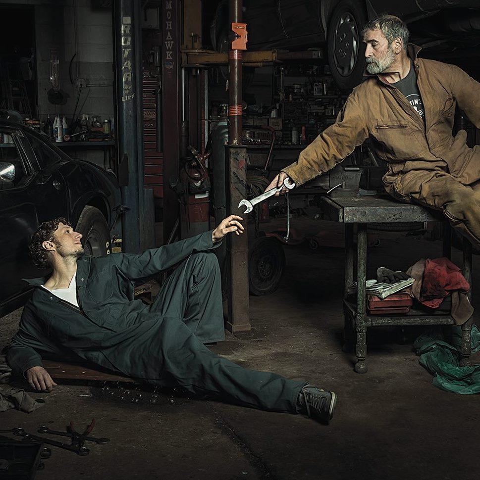 photographer recreates renaissance paintings using