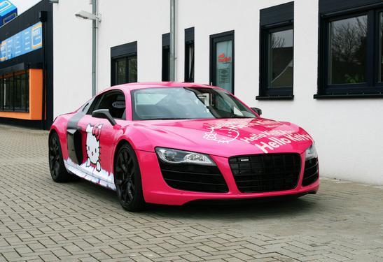 Pink Audi R8 V10 Hello Kitty Loves You! - autoevolution