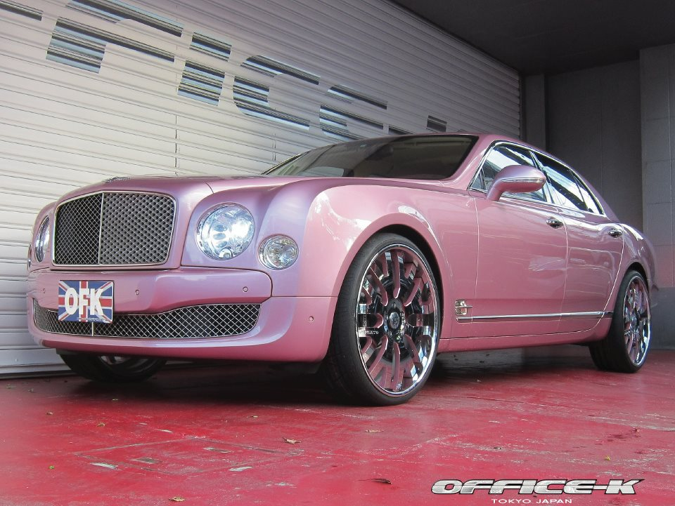Bentley Flying Spur >> Pink Bentley Mulsanne Gets Forgiato 24s from Office-K ...