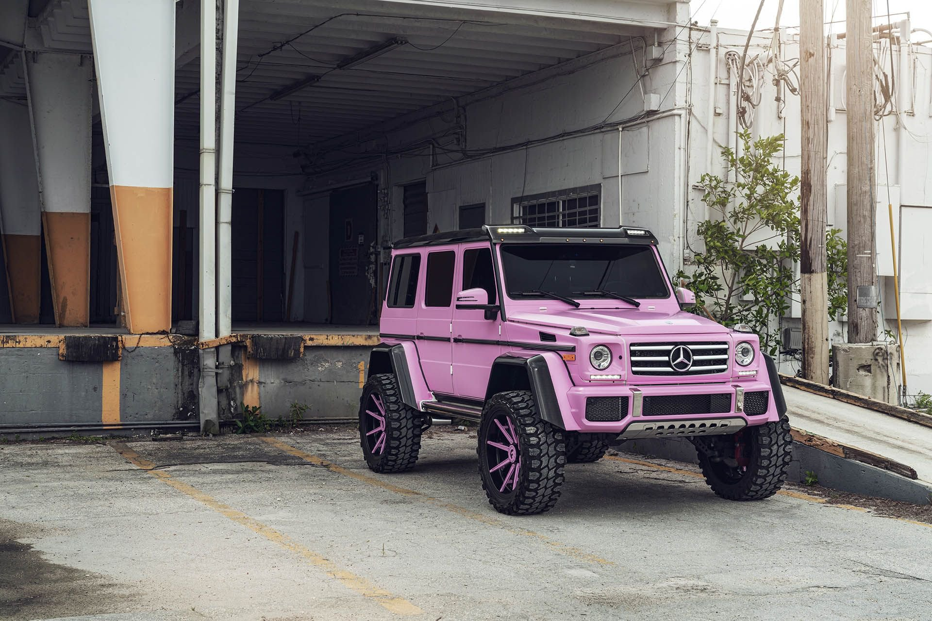 Pink Mercedes G Cl 4 Squared Is All About