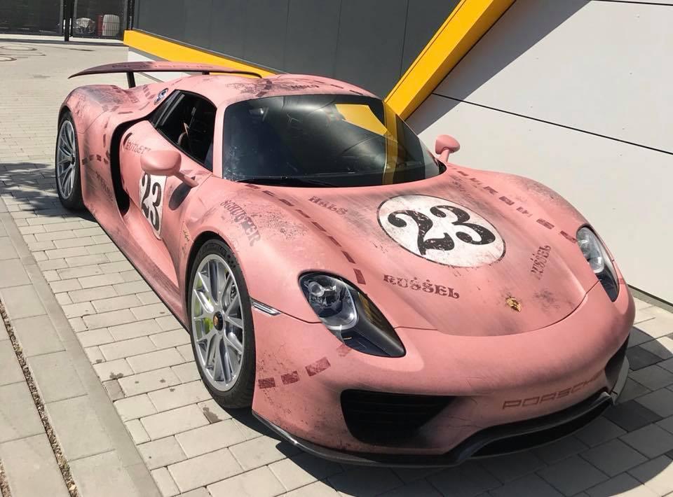 Pink Pig Porsche 918 Spyder Is A Nod To The 917 20 Racecar