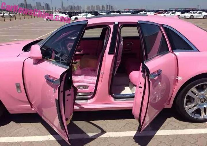 pink rolls royce ghost is why some car makers screen their customers autoevolution. Black Bedroom Furniture Sets. Home Design Ideas