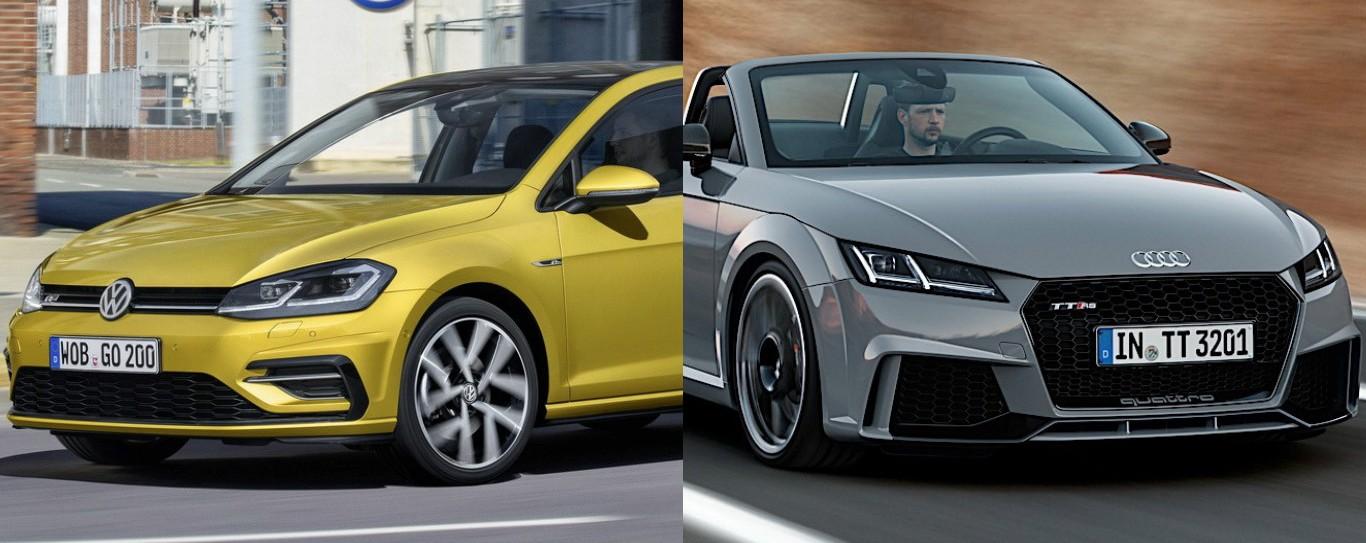 Volkswagen Golf Facelift And Audi Tt Rs Roadster