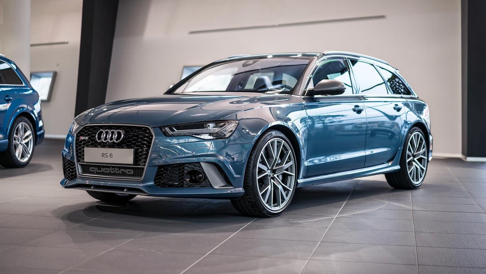 polar blue metallic rs6 avant by audi exclusive looks cool autoevolution. Black Bedroom Furniture Sets. Home Design Ideas