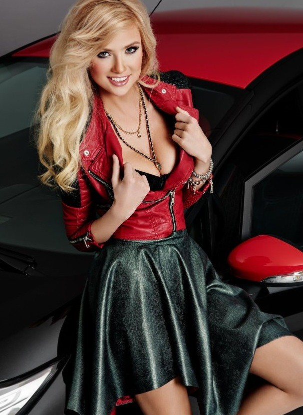Polish Blonde Model Agata Makes A Ford Fiesta Black