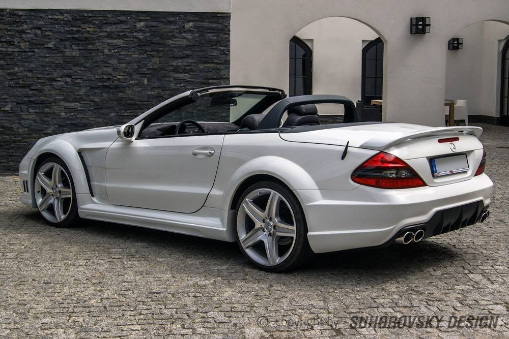 Polish wide body kit for the r230 mercedes benz sl for Mercedes benz sl r230
