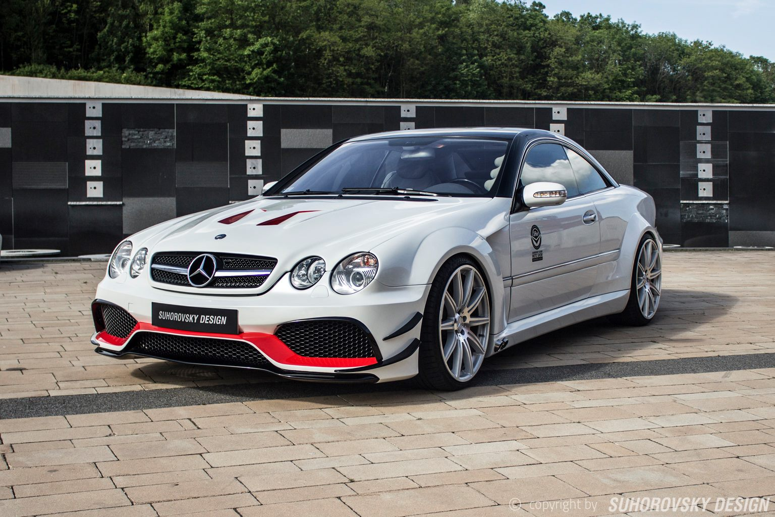 Polish wide body kit mercedes benz cl features side for Mercedes benz auto body