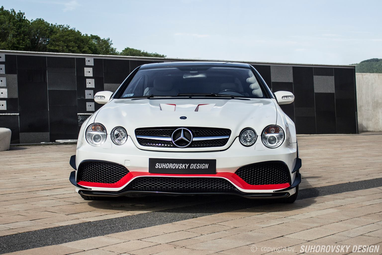 Polish wide body kit mercedes benz cl features side for Mercedes benz amg kit
