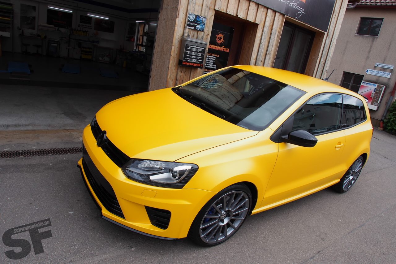 Polo R Wrc Looks Good In Sunflower Yellow Wrap Autoevolution