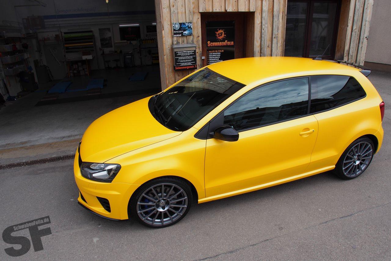 Matte Blue Car >> Polo R WRC Looks Good in Sunflower Yellow Wrap - autoevolution
