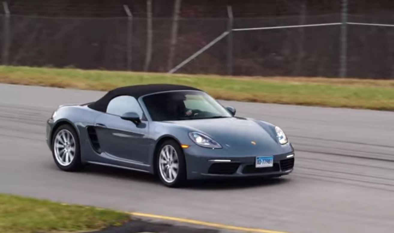 porsche 718 boxster base spec rendered with plastic bumpers and