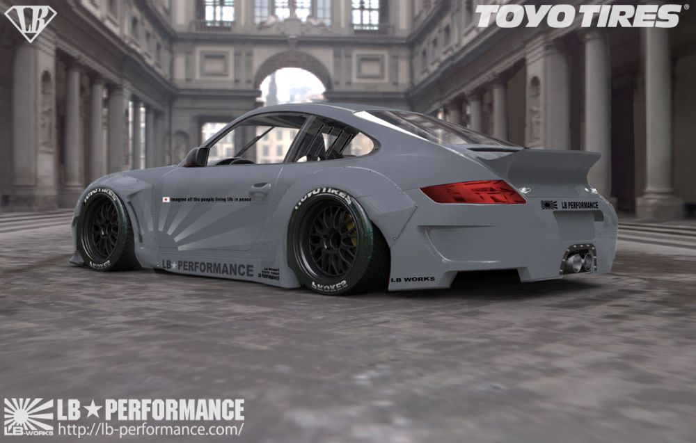 Porsche 911 997 Gets Liberty Walk Widebody Kit Autoevolution