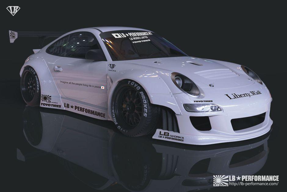 Porsche 911 997 gets liberty walk widebody kit autoevolution