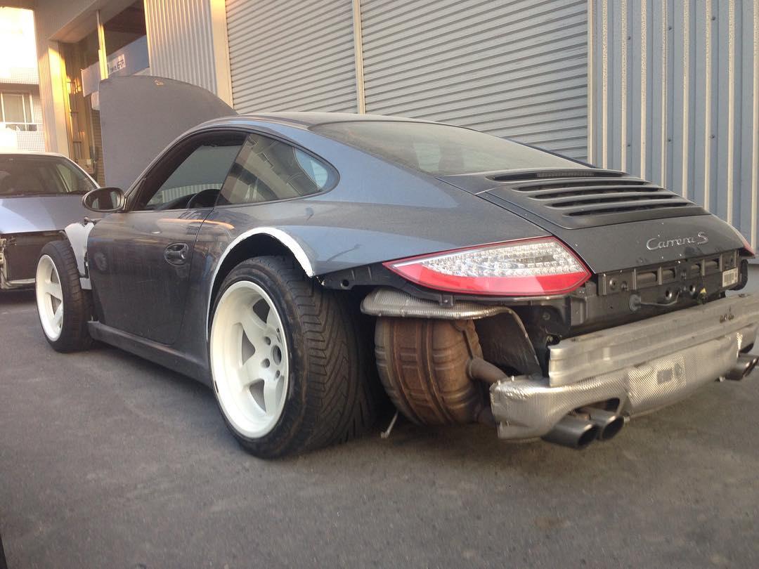 Porsche 911 997 Gets The 935 Slant Nose Visual Treatment