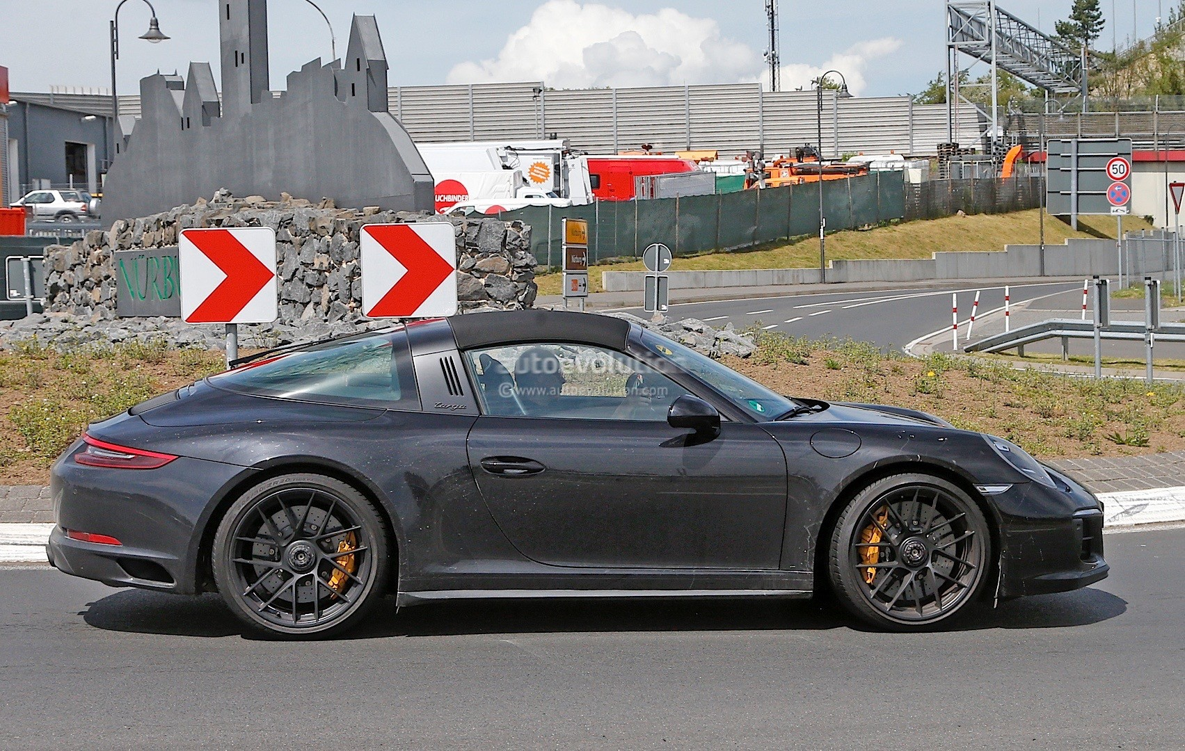 2017 Porsche 911 Targa Gts 991 2 Spied Near The