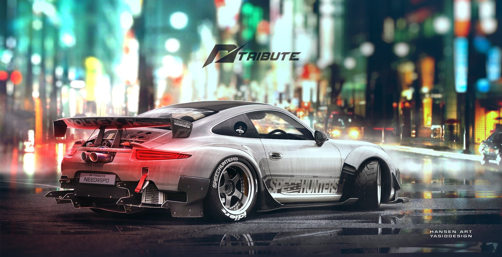 Porsche 911 Rendered As Awesome Drift Missile With Nfs