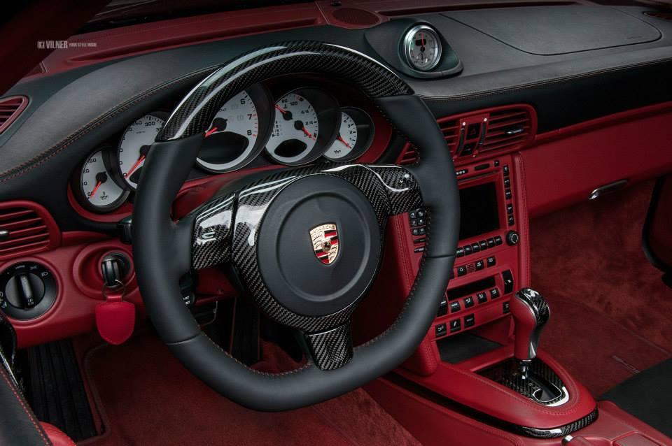 Porsche 911 Turbo Cabriolet Gets Carbon Fiber And Alcantara Interior From Vilner Autoevolution
