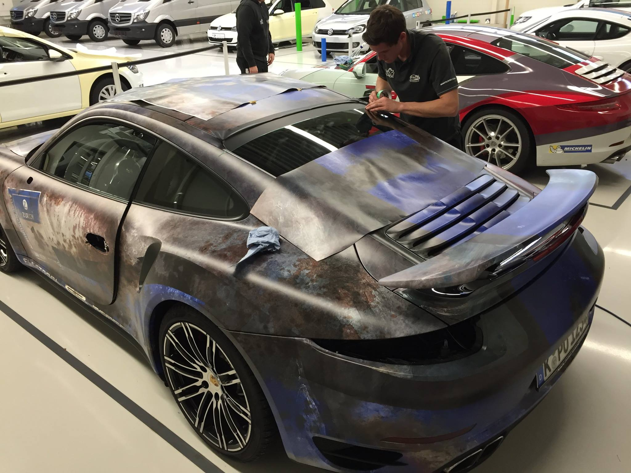 Porsche 911 Turbo Gets Rusty Wrap Salutes Barn Find Time