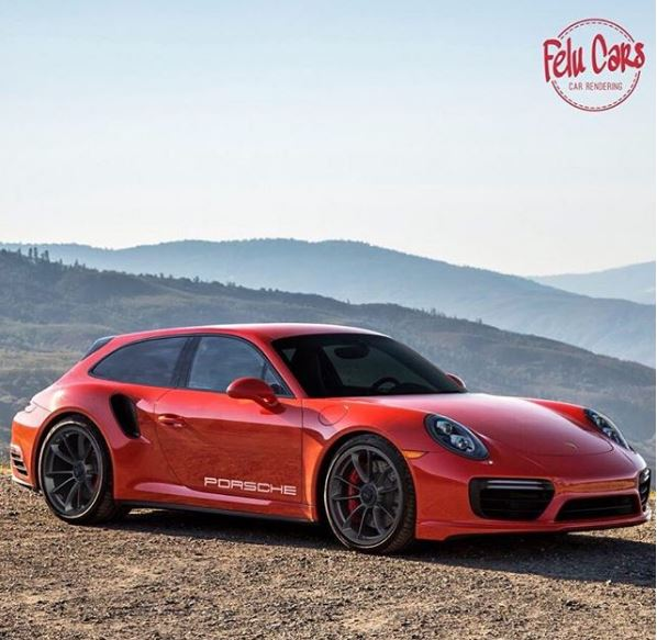 Porsche 911 Turbo Sport Turismo Rendered As Shooting Brake