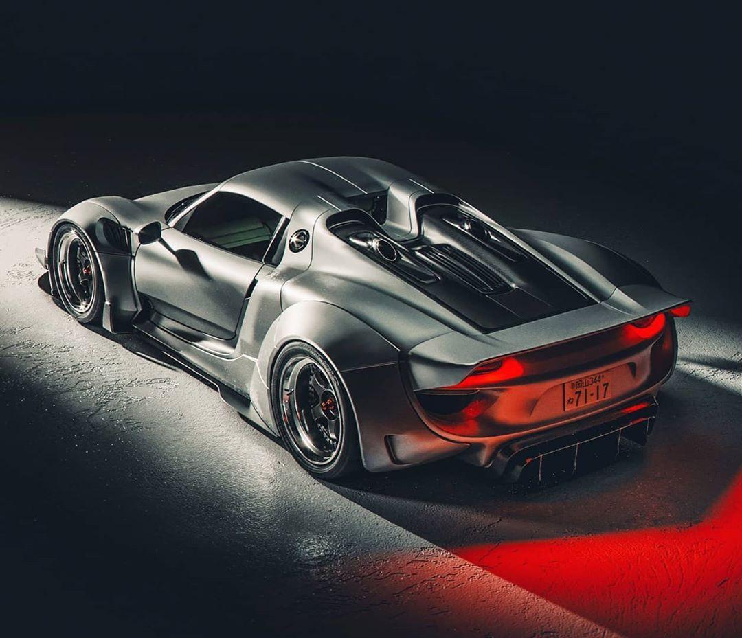 """Porsche 918 Spyder Concept: Porsche 918 Spyder """"Longtail"""" Looks Like The Racecar We"""
