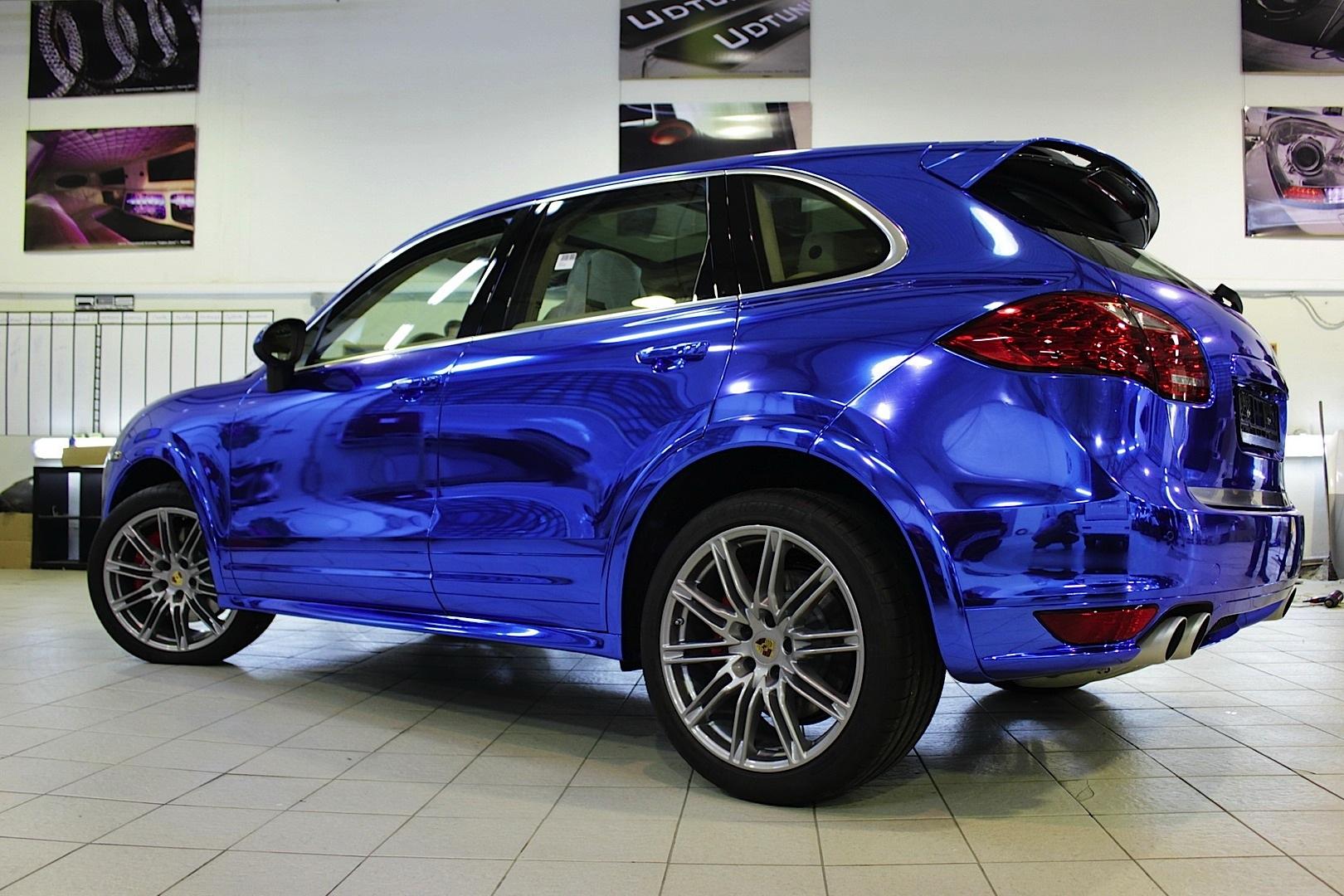 Porsche Cayenne Blue Chrome Autoevolution