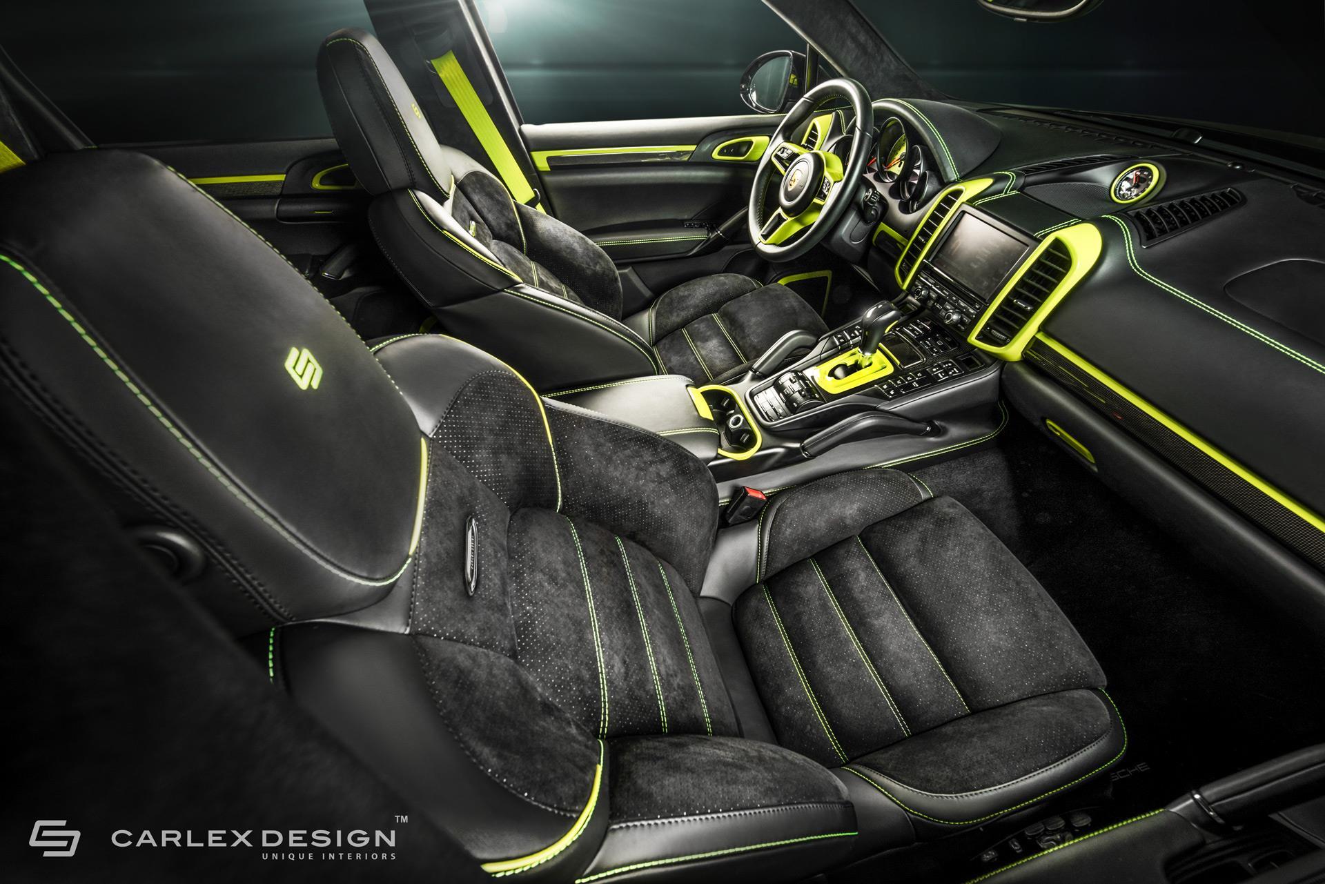 ... Porsche Cayenne Gets Acid Green Interior Makeover By Carlex Design ...