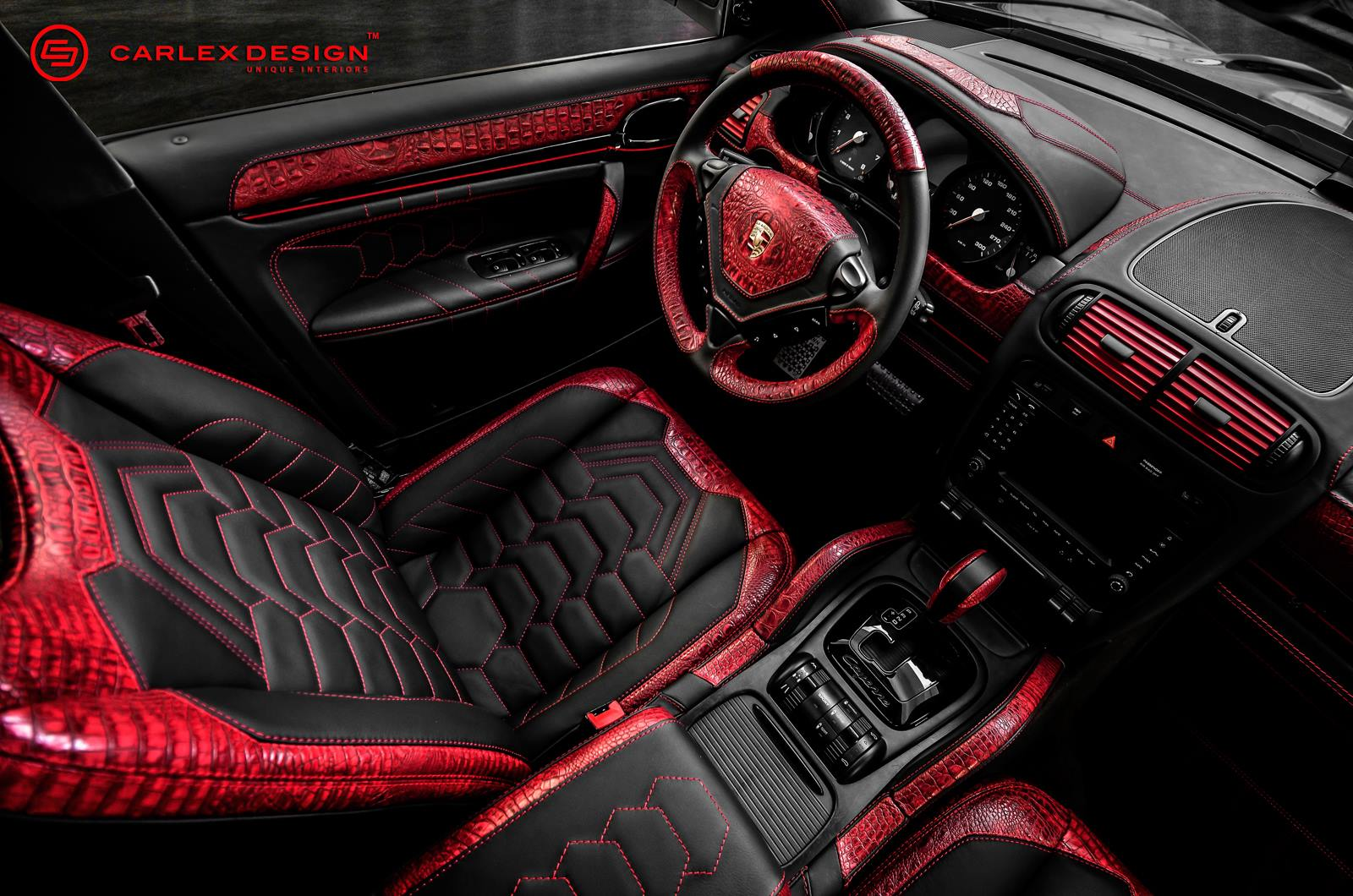 Goes Reptilian With Red Crocodile Leather Interior Autoevolution