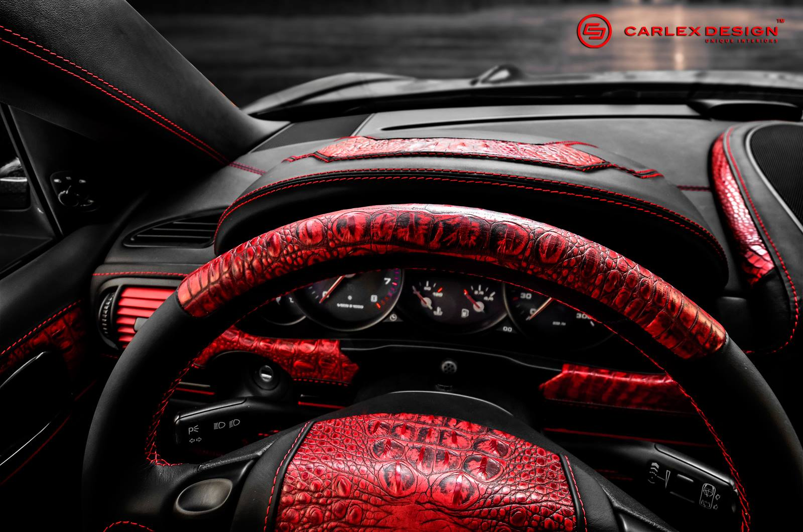 Amg G Wagon >> Porsche Cayenne Goes Reptilian with Red Crocodile Leather ...