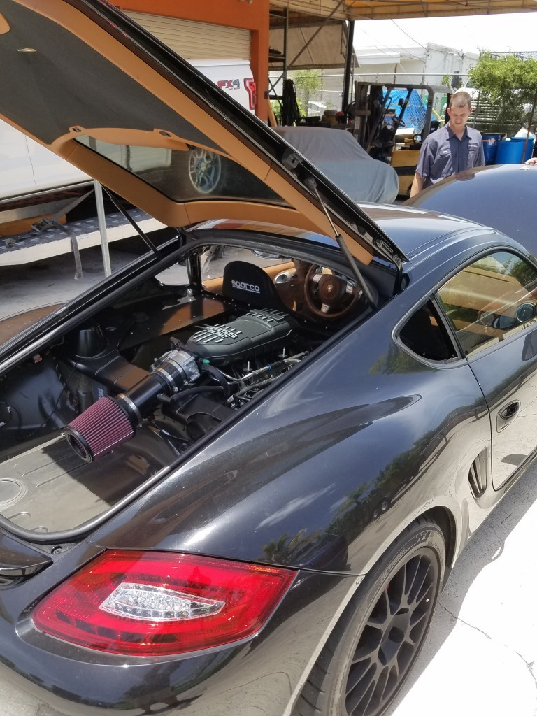 Porsche Cayman With Ford Coyote 5 0 V8 Engine Swap