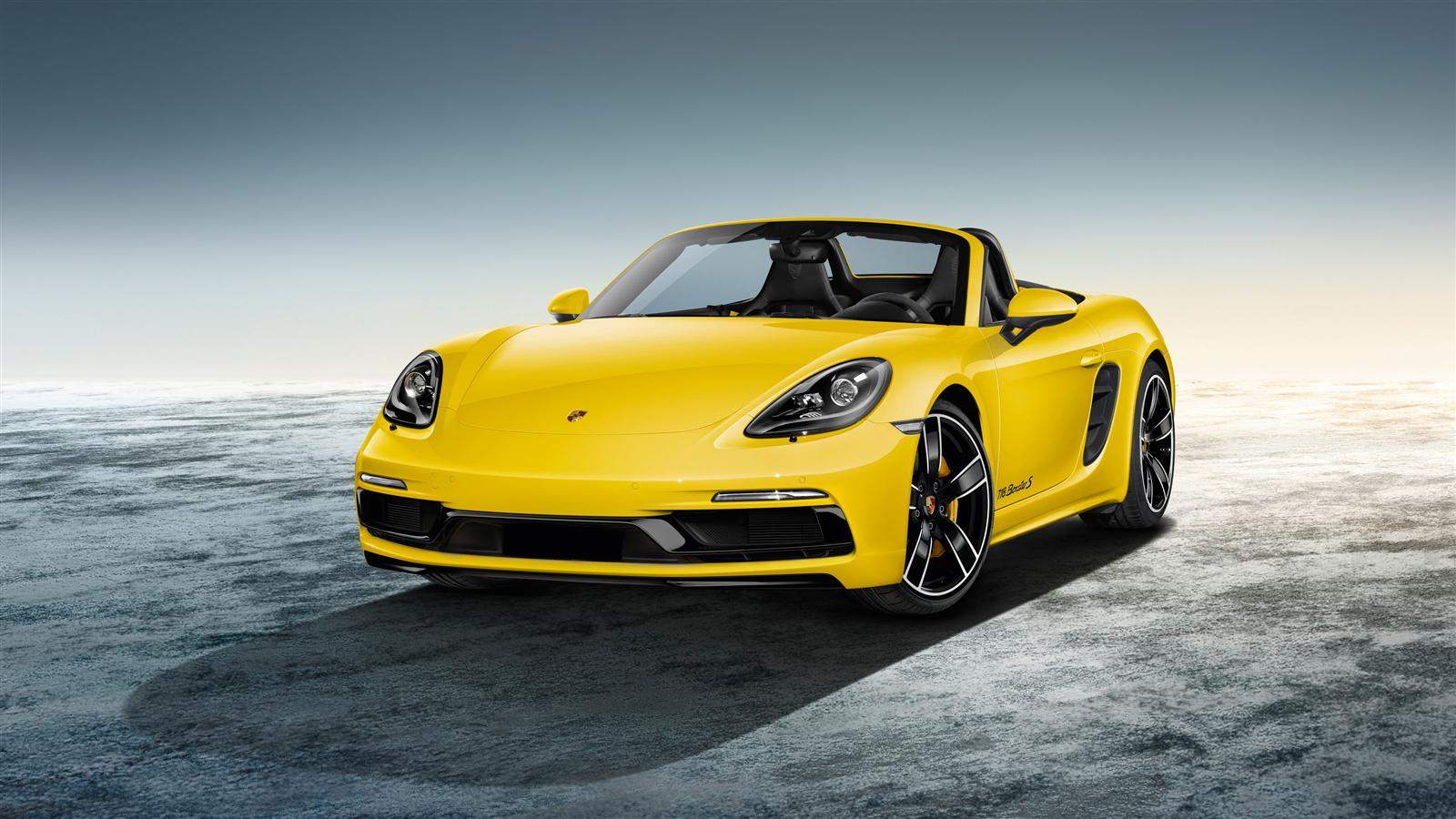 porsche 718 boxster s in racing yellow by porsche exclusive manufaktur