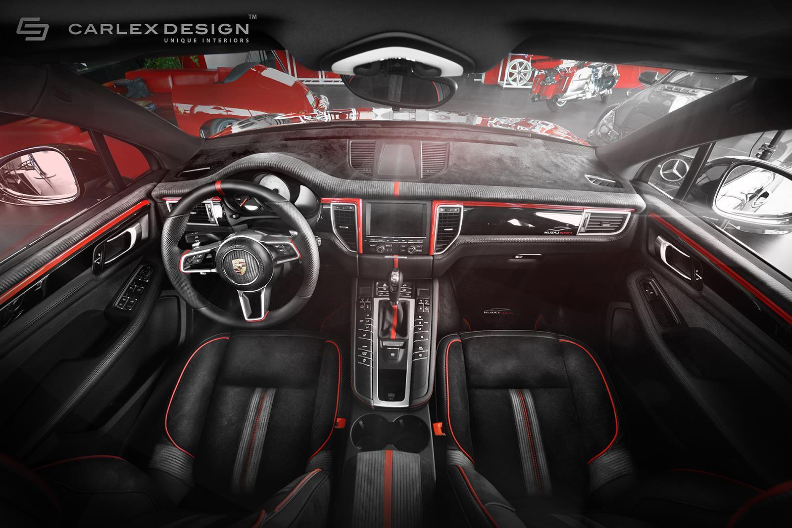 Porsche Macan Gets A Berserk Red And Black Interior Makeover From Carlex Design Autoevolution