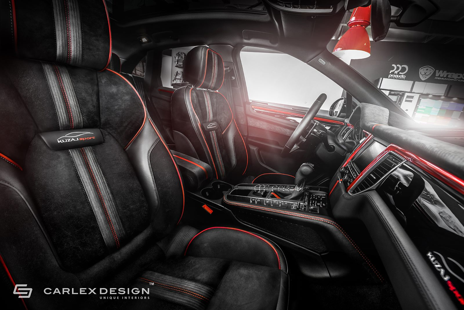 Porsche Macan Gets A Berserk Red And Black Interior