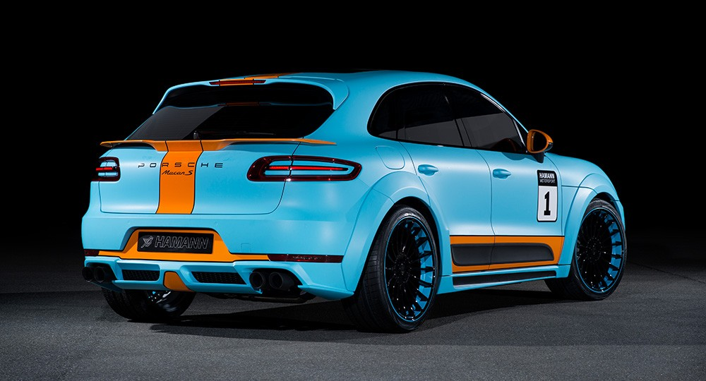 porsche macan tuned by hamann gets sports gulf racing. Black Bedroom Furniture Sets. Home Design Ideas