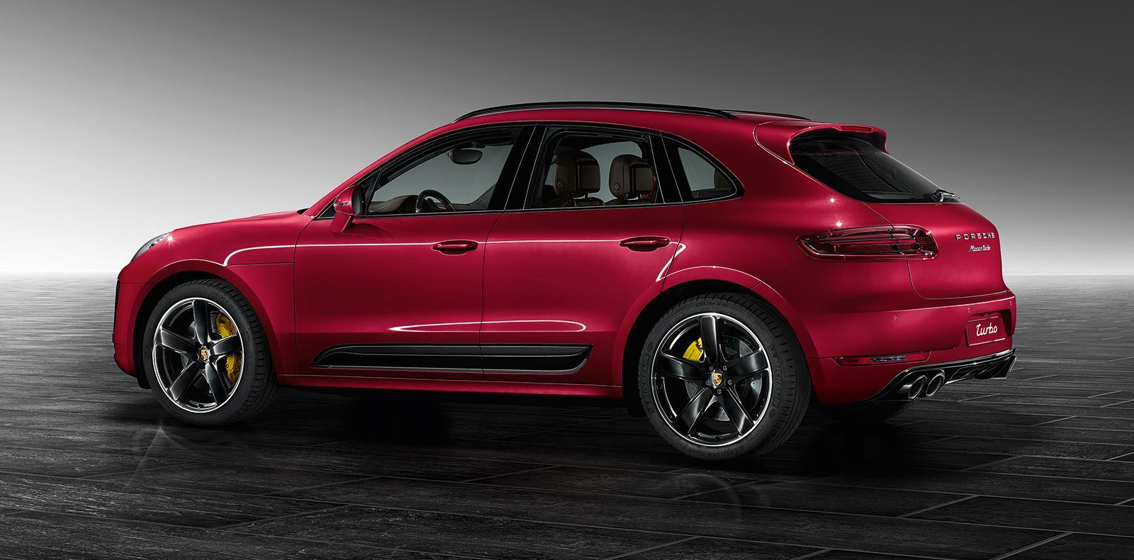 Porsche Macan Turbo Painted in Impulse Red Metallic Is Eye ...