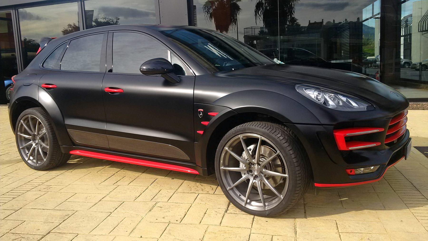 Porsche Macan Gts Interior >> Porsche Macan Ursa by Topcar Gets Unique Black and Red ...