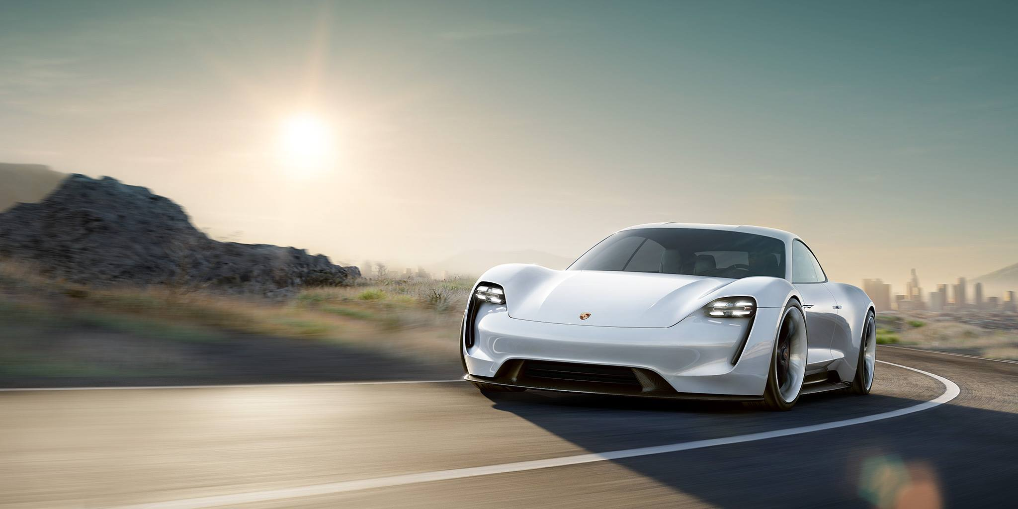 Porsche mission e concept revealed in frankfurt with 600 electric horses video live photos