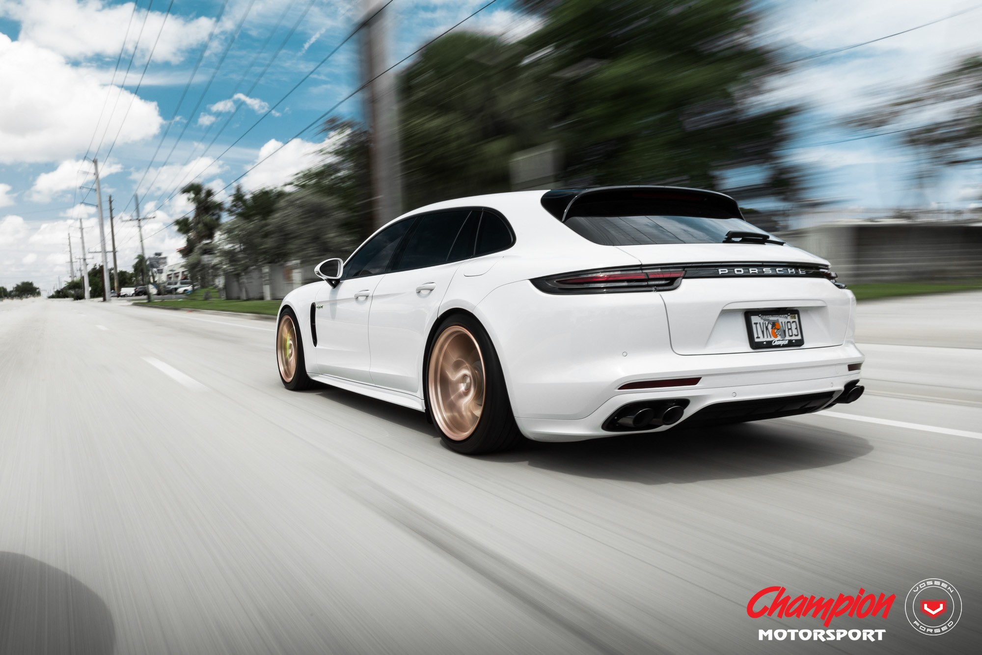 Porsche Panamera Sport Turismo On Gold Vossen Wheels Is