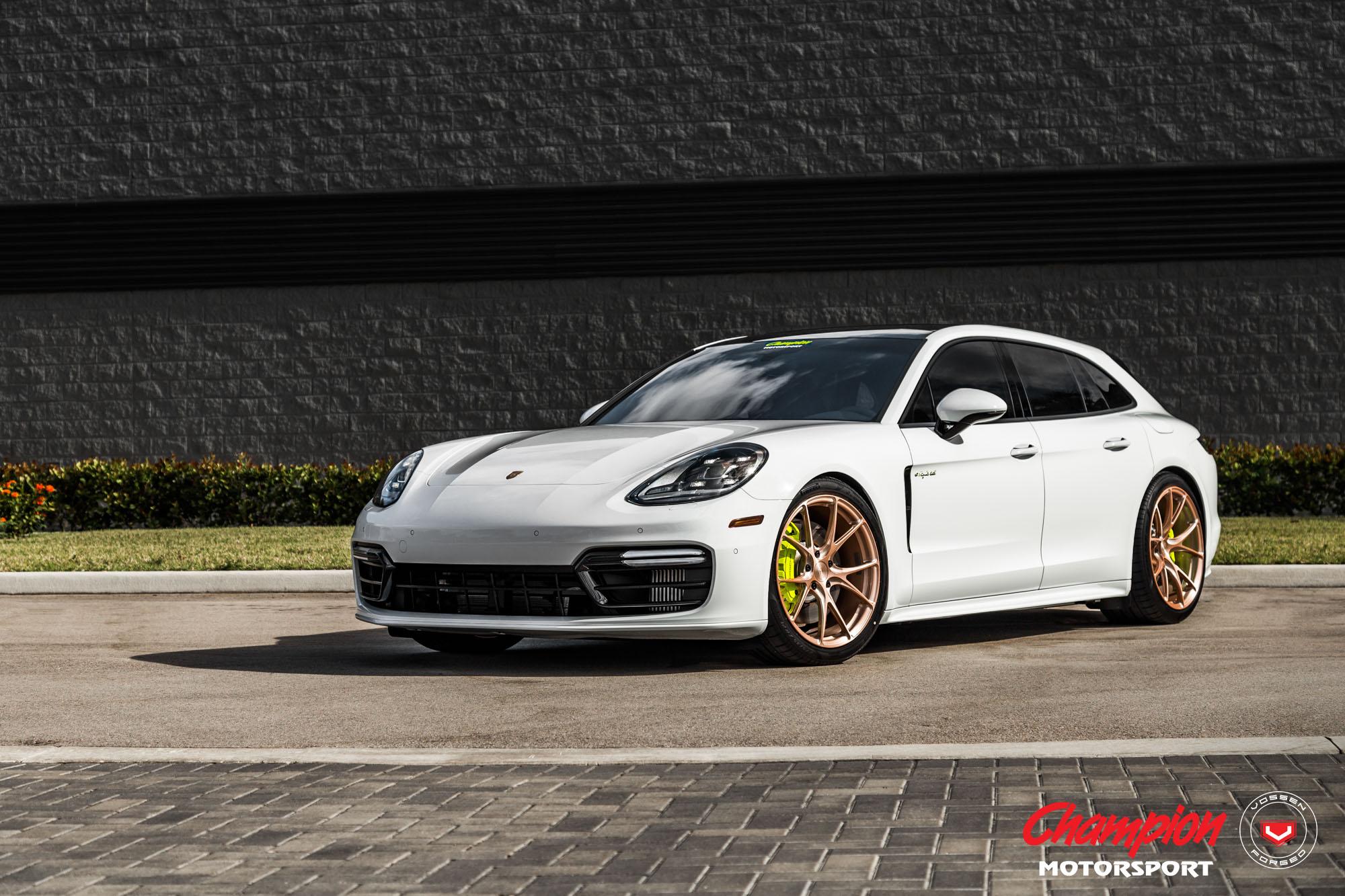 Porsche Panamera Sport Turismo On Gold Vossen Wheels Is